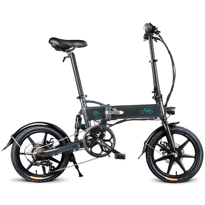 FIIDO D2 Shifting Version Folding Moped Electric Bike E-bike - Slate Gray