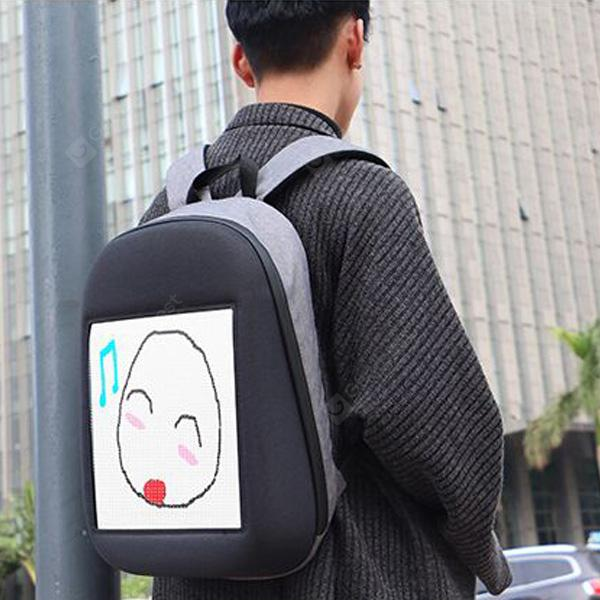 Gearbest Creative Design LED Display Screen Backpack
