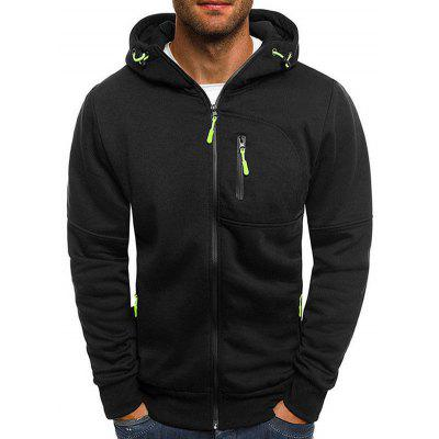 Men's Sports Fitness Casual Jacquard Hoodie