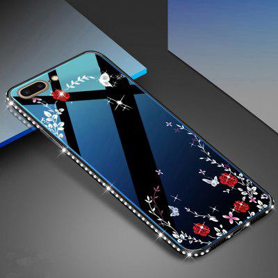 TPU Soft Shell Shockproof Drop-proof Diamond Blue Glass Phone Case for iPhone 7P / 8P