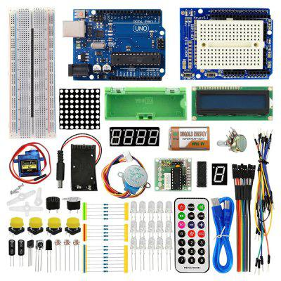 Intelligent Electronics UNO R3 Version de Mise à Niveau d'Apprentissage de Base pour Kit Arduino Diy