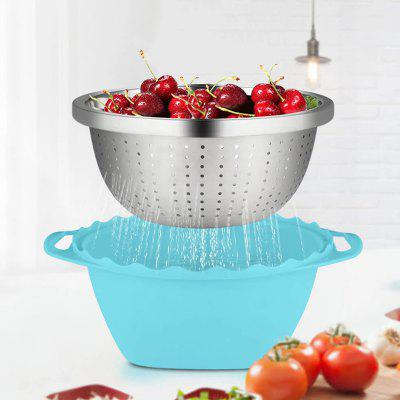 Multifunctional Draining Basket Double Layer Fruit Vegetable Washing Tool