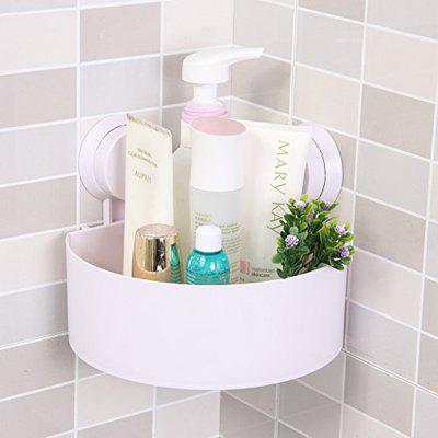Bathroom Wall-Mounted Sucker Triangle Shelf Storage for Bathroom and Kitchen