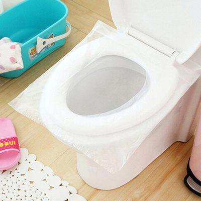 1 Bag 10 Pieces Travel Set Disposable Toilet Seat Cover Water Resistant Toilet Paper Pad Bathroom Accessories Set