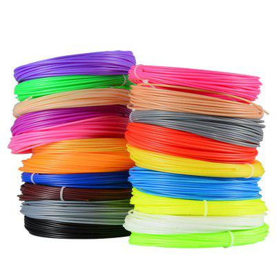 5M Colors 1.75mm PLA 3D Printer Filament for 3D Pen 20pcs