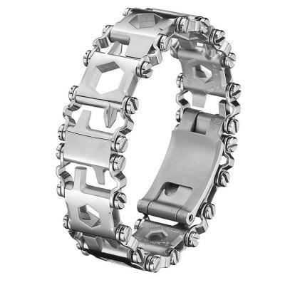 Multifunctional Wearable Outdoor Survival Stainless Steel Jewelry Tool Bracelet