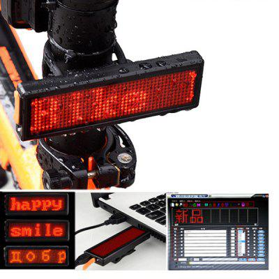 Outdoor Bike Warning Light Bicycle Taillight Advertising Lamp USB Charging for Backpack Helmet