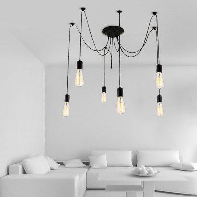 Retro Multi-head LED Pendant Light for Home