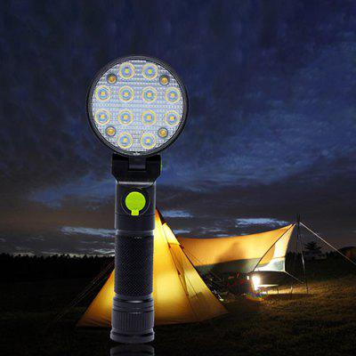 Portable Unique Tricolor Light Flashlight Warning Lamp for Outdoor