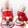 Four-legged Christmas Funny Autumn Winter Button Pet Clothes - RED