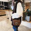 Lady Simple Fashionable Youthful Bright Surface Versatile Elegant  Mini Shoulder Chain Crossbody Bag - LIGHT BROWN