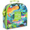 MiDeer Dinosaur Child Early Learning Science Puzzle Cartoon Animal Jigsaw Toy Gift Box 104pcs - MULTI-A