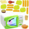 Children's Simulation Microwave Oven Kitchen Toy Set - YELLOW GREEN