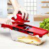 Kitchen Multifunctional Manual Vegetables Chopper Mincer Cutter - RED