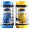 Mini Pull-ring Can RC Robot Infrared Battle Puzzle Toy for Children - DODGER BLUE
