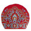 Women National Style Classic Casual Embroidered Scarf Hat - RED