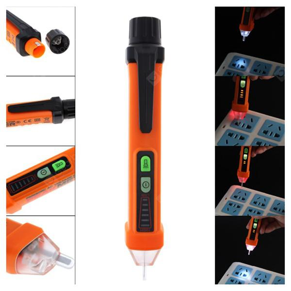 PEAKMETER PM8908C Multi-function Test Pen Tester - Orange