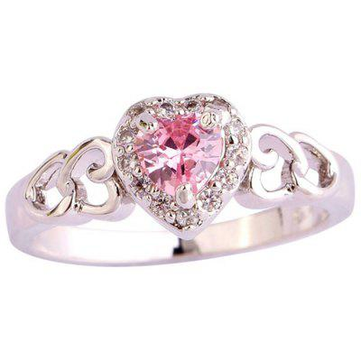 Double Hearts Hollow Women Ring
