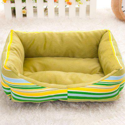 Fashion Rainbow Striped Pet Nest Sofa Bed