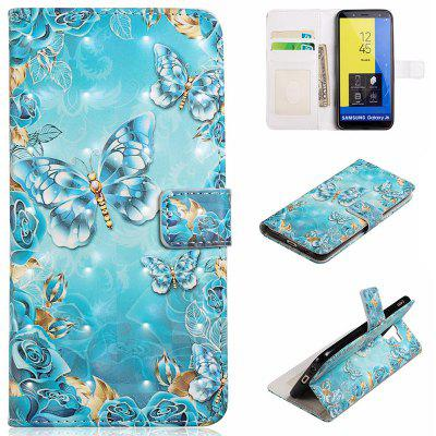 PU Leather Painted Pattern Mobile Phone Case for Samsung Galaxy J6