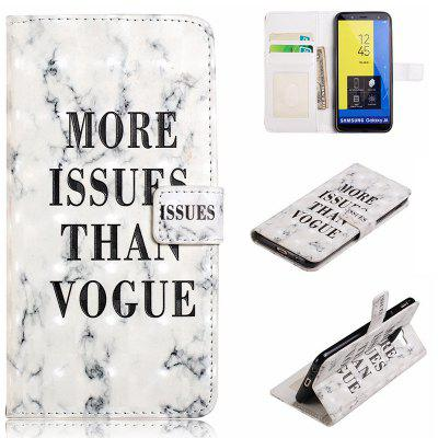 PU Leather Trendy 3D Painted Pattern Mobile Phone Case for Samsung Galaxy J6