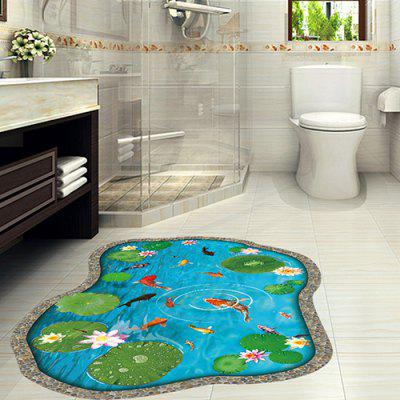 Lotus Pond PVC Waterproof Wall Sticker