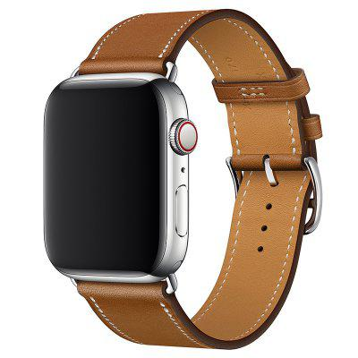 Leather Belt Single-ring Watch Strap for iPhone 4