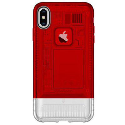 Angibabe 5.8 pollici ultra-sottile due-in-one TPU + PC traslucido cassa del telefono mobile Aurora per iPhone X / XS