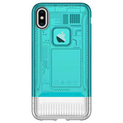 Angibabe Custodia ultrasottile in TPU due-in-one da 5,8 pollici per iPhone X / XS