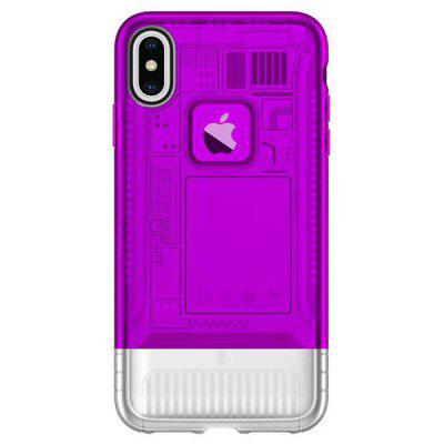 Angibabe Ultra-sottile TPU + PC Traslucido Aurora Mobile Phone Case per iPhone X / XS