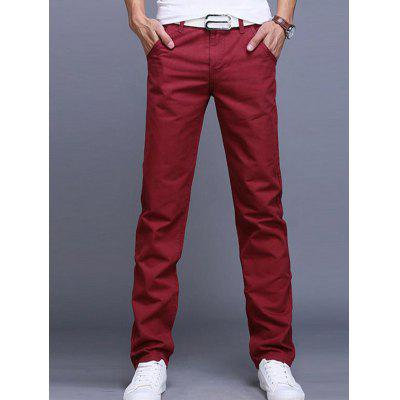 Men'S Casual Pants Straight Slim
