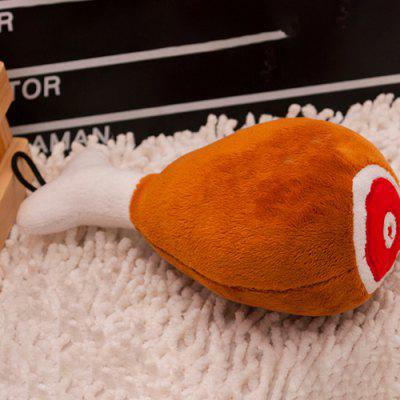 Chicken Drumsticks Shaped Plush Sound Toy for Pet