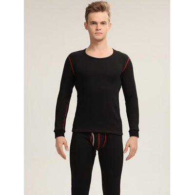 Thermal Underwear Sets Thick Velvet Warm Clothing Waist Support Breathable Underclothes for Men