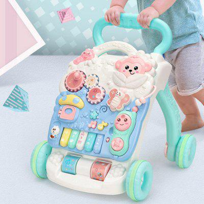 Early Education Puzzle Children's Trolley with Water Tank Baby Walker Toy