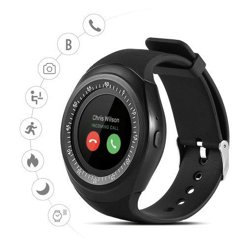 Gearbest Alfawise Y1 696 Bluetooth Sport Smartwatch with Independent Phone Function - BLACK Pedometer / Sleep Monitor / Anti-lost Reminder