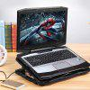 JM 5 Fan Laptop Cooling Bracket Ultra-quiet Cooler Suitable for 14 - 17.3 inches Tablet - BLACK