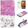 PU Leathe 3D Painted Pattern Mobile Phone Case for Samsung Galaxy A8 - BRIGHT NEON PINK