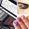 Sequined Eyeshadow 8 Color Set Children Stage Makeup Sparkling Diamond Glitter Powder Disc Flashing Pearl - MULTI-C