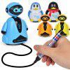 Creative Magic Auto-induction Follow Drawn Line Toy - BLACK