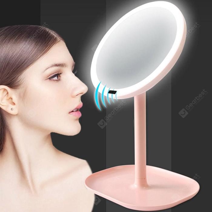 Rechargeable Motion Sensor Light Mirror Led Makeup Mirror 7x Rotation Infrared Induction Table Mirror