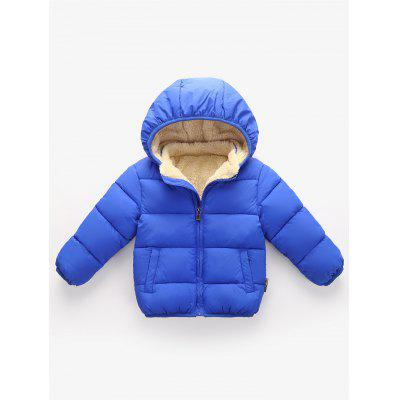 Children Plus Velvet Warm Cotton Coat Boy Down Jacket