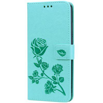 Hat - Prince Rose en cuir PU gaufré + TPU Bottom Case avec support de carte Mobile Phone Case pour HUAWEI Y9 / HUAWEI Enjoy 9 Plus
