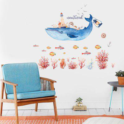 JM7352 Whale Ocean Series Wall Sticker