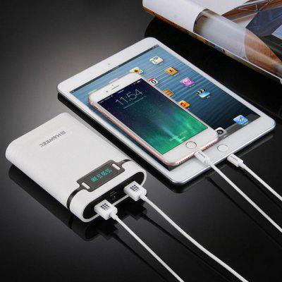 Haweel 10000mAh 18650 Battery 4 Section Mobile Power Box Mobile Power Kit Dual USB Charging Treasure