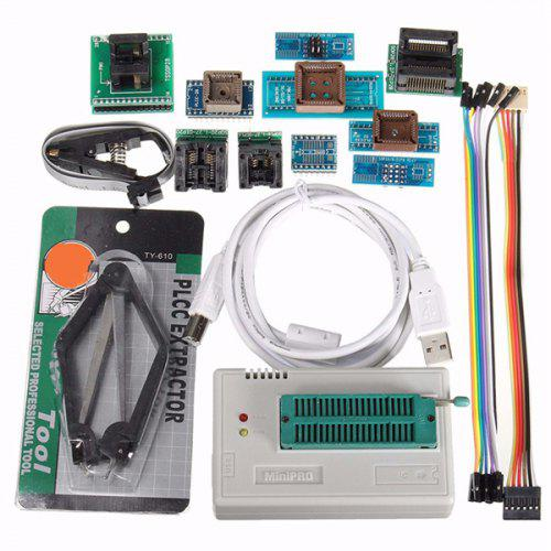 L866II USB Mini Pro High Speed Programmer with Adapter EEPROM FLASH AVR MCU  SPI ICSP