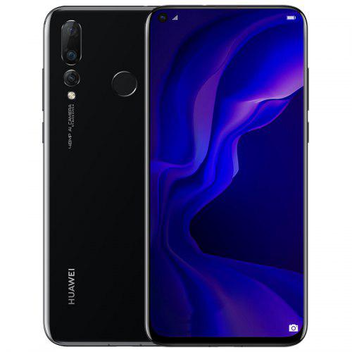 HUAWEI nova 4 4G Phablet – Black 377577501 8G RAM 128G ROM 48.0MP + 16.0MP + 2.0MP Rear Camera