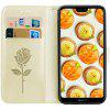 Hat - Prince Rose Embossed PU Leather  Mobile Phone Case for Huawei P20 Lite - BEIGE
