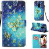 Painted TPU + PU Leather Mobile Phone Case for Samsung Galaxy S9 Plus - MULTI-A