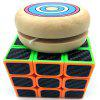 Sports Puzzle Development Brain Magic Cube Wooden Yoyo Ball Set - PAPAYA ORANGE