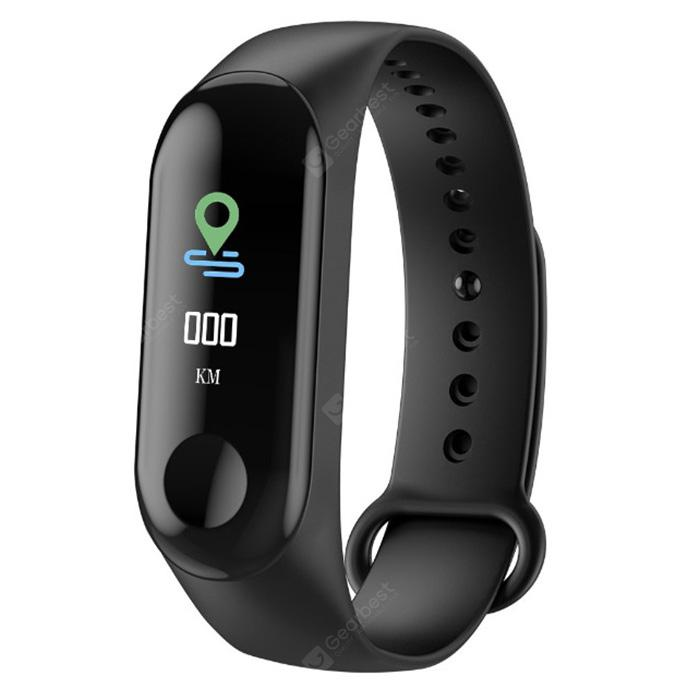 M3C 0.96 inch Smart Bluetooth Bracelet Sports Smartwatch - BLACK